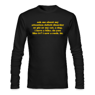 Long Sleeve Shirts ~ Men's Long Sleeve T-Shirt by American Apparel ~ MADE IN USA! Ask me about my ADD - Gold orange print