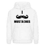 Hoodies ~ Men's Hooded Sweatshirt ~ Mustaches!