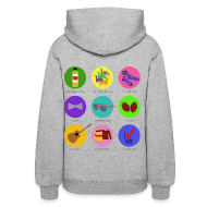 Hoodies ~ Women's Hooded Sweatshirt ~ Darren Criss Buttons - Custom - Hoodie