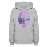 Hoodies ~ Women's Hooded Sweatshirt ~ Guitar, pink sunglasses, and nail polish hoodie