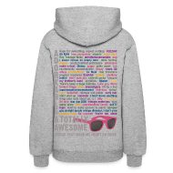Hoodies ~ Women's Hooded Sweatshirt ~ Darren Criss Rainbow Words Hoodie