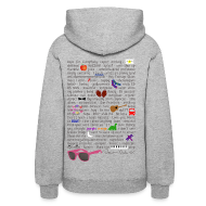 Hoodies ~ Women's Hooded Sweatshirt ~ Very Darren Criss Rebus - Hoodie