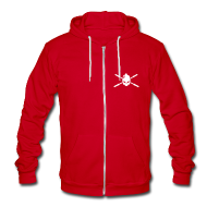 Zip Hoodies/Jackets ~ Unisex Fleece Zip Hoodie by American Apparel ~ Simple logo