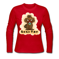 Long Sleeve Shirts ~ Women's Long Sleeve Jersey T-Shirt ~ ROXY KAY long sleeve women