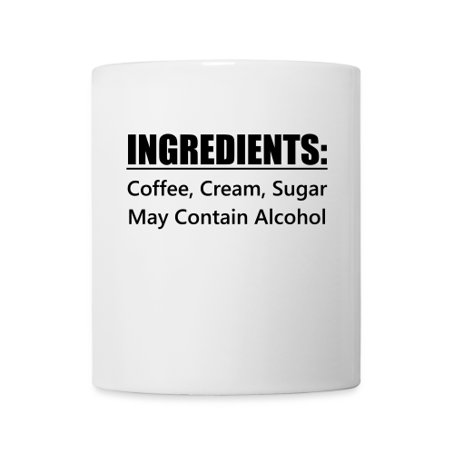 Coffee Ingredients Mug - May Contain Alcohol
