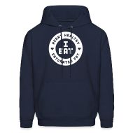Hoodies ~ Men's Hooded Sweatshirt ~ I Eat Heart Healthy Saturated Fat (White)