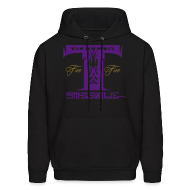 Hoodies ~ Men's Hooded Sweatshirt ~ MENS HOODIE T SIZZLE LOGO BLK/PURPLE