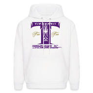 Hoodies ~ Men's Hooded Sweatshirt ~ MENS HOODIE T SIZZLE LOGO WHITE/PURPLE
