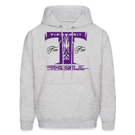 Hoodies ~ Men's Hooded Sweatshirt ~ MENS HOODIE T SIZZLE LOGO GREY/PURPLE