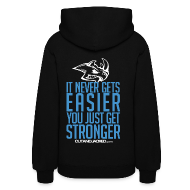 Hoodies ~ Women's Hooded Sweatshirt ~ Stronger| CutAndJacked | Womens hoodie (back Print)