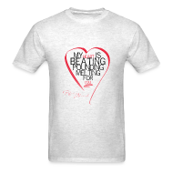 T-Shirts ~ Men's Standard Weight T-Shirt ~ Red Heart with Song Lyrics