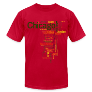 T-Shirts ~ Men's T-Shirt by American Apparel ~ Chicago Words