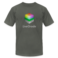 T-Shirts ~ Men's T-Shirt by American Apparel ~ LiveGrade (grey)