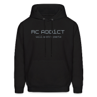 Hoodies ~ Men's Hooded Sweatshirt ~ Will Work for Partz