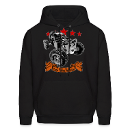 Hoodies ~ Men's Hooded Sweatshirt ~ Black WIDOW