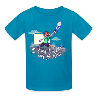 Kids' Shirts ~ Kids' T-Shirt ~ I Can Swing My Sword (Minecraft Diamond Sword Song) (Children)
