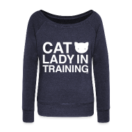 Long Sleeve Shirts ~ Womens Wideneck Sweatshirt ~ Cat Lady in Training