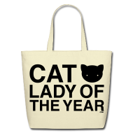 Bags & backpacks ~ Eco-Friendly Cotton Tote ~ Cat Lady of the Year