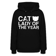 Hoodies ~ Women's Hooded Sweatshirt ~ Cat Lady of the Year