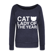 Long Sleeve Shirts ~ Womens Wideneck Sweatshirt ~ Cat Lady of the Year