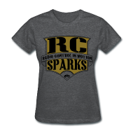 Women's T-Shirts ~ Women's Standard Weight T-Shirt ~ Ladies - GOLD & Black RCSparks Community Shield