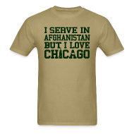 T-Shirts ~ Men's Standard Weight T-Shirt ~ Serve Afghanistan Love Chicago