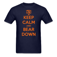 T-Shirts ~ Men's Standard Weight T-Shirt ~ Keep Calm Bear Down