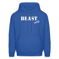 Hoodies ~ Men's Hooded Sweatshirt ~ beast mode hoodie