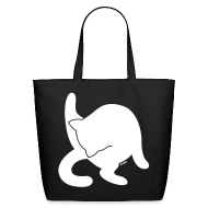 Bags & backpacks ~ Eco-Friendly Cotton Tote ~ White Cat