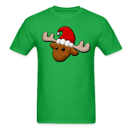 T-Shirts ~ Men's Standard Weight T-Shirt ~ Men's Merry Christmoose