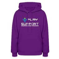 Hoodies ~ Women's Hooded Sweatshirt ~ I Play Support