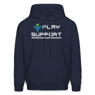 Hoodies ~ Men's Hooded Sweatshirt ~ I Play Support