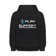 Sweatshirts ~ Kids' Hooded Sweatshirt ~ I Play Support