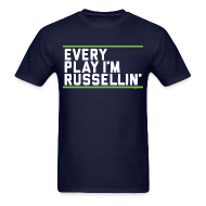 T-Shirts ~ Men's Standard Weight T-Shirt ~ Every Play I'm Russellin'