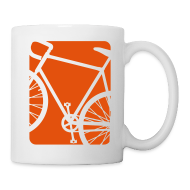 Bottles & Mugs ~ Coffee/Tea Mug ~ Bike Bicycling Biking Mug Orange