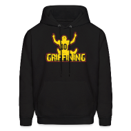 Hoodies ~ Men's Hooded Sweatshirt ~ Women's Griffining Shirt on Black V-Neck