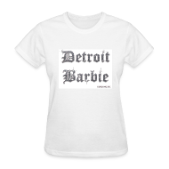 Women's T-Shirts ~ Women's Standard Weight T-Shirt ~ DETROIT BARBIE SILVER