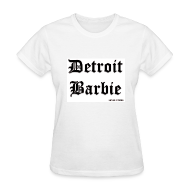 Women's T-Shirts ~ Women's Standard Weight T-Shirt ~ DETROIT BARBIE BLACK