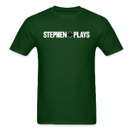 T-Shirts ~ Men's Standard Weight T-Shirt ~ StephenPlays Logo - White (Men's)