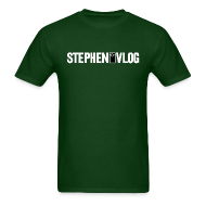 T-Shirts ~ Men's Standard Weight T-Shirt ~ StephenVlog Logo - White (Men's)