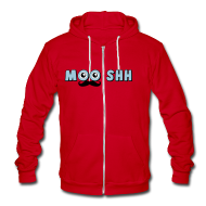 Zip Hoodies/Jackets ~ Unisex Fleece Zip Hoodie by American Apparel ~ MOOSHtache HOODIE