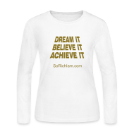 Long Sleeve Shirts ~ Women's Long Sleeve Jersey T-Shirt ~ Believe