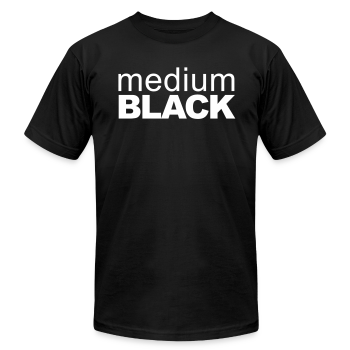 Medium Black Brand Tee