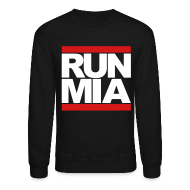 Long Sleeve Shirts ~ Men's Crewneck Sweatshirt ~ Run Miami