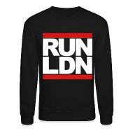Long Sleeve Shirts ~ Men's Crewneck Sweatshirt ~ Run London