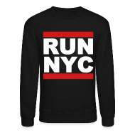 Long Sleeve Shirts ~ Men's Crewneck Sweatshirt ~ Run New York City