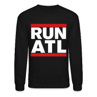 Long Sleeve Shirts ~ Men's Crewneck Sweatshirt ~ Run Atlanta