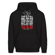 Hoodies ~ Men's Hooded Sweatshirt ~ There will be pain | CutAndJacked | Mens hoodie
