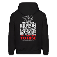 Hoodies ~ Men's Hooded Sweatshirt ~ There will be pain | CutAndJacked | Mens hoodie (back print)