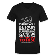 T-Shirts ~ Men's V-Neck T-Shirt by Canvas ~ There will be pain | CutAndJacked | Mens V-neck